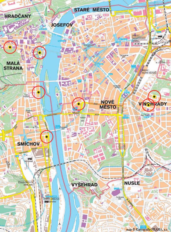 Map Prague