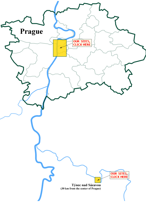 Map Prague & Tynec