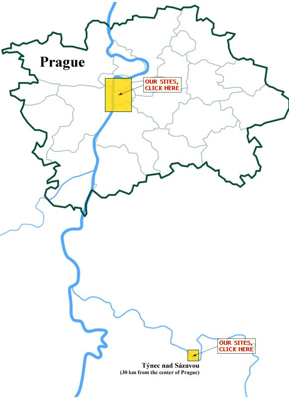 Map Prague & Tynec